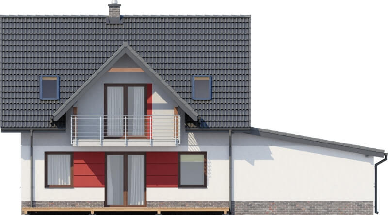 Projekt domu L-6525 - elewacja