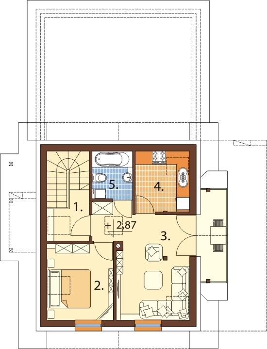 Projekt domu L-6525 - rzut