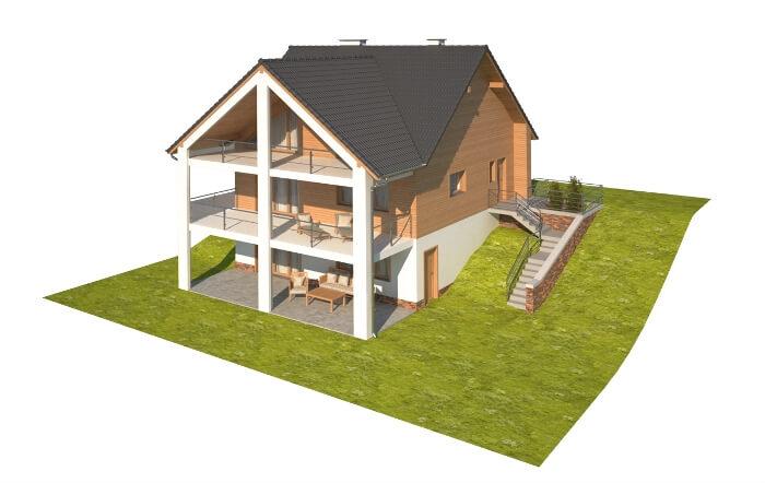 Projekt domu L-6611 - model