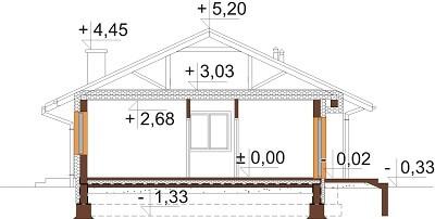 Projekt domu L-6616 - przekrój