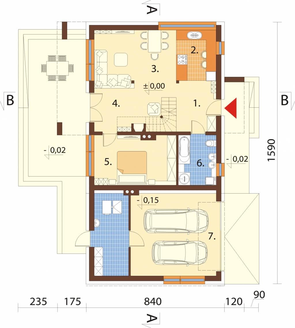 Projekt domu DM-6620 - rzut
