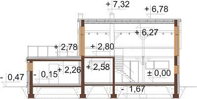 Projekt domu DM-6620 - przekrój