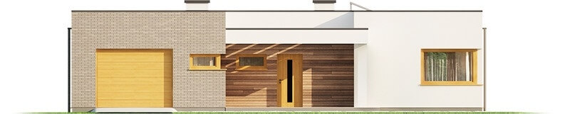 Projekt domu L-6621 - elewacja