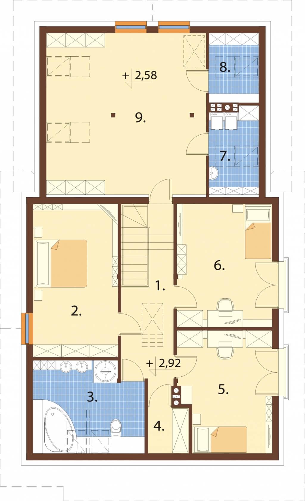 Projekt domu L-6524 - rzut
