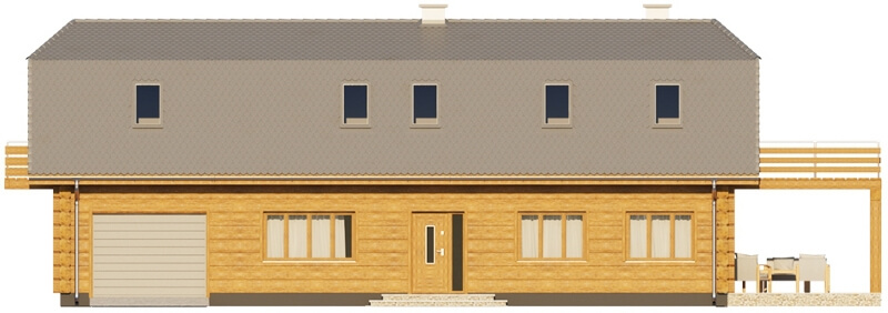 Projekt domu L-6606 - elewacja