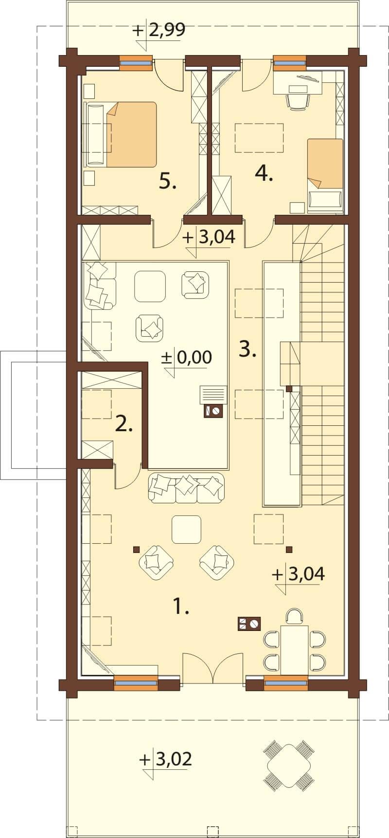 Projekt domu L-6606 - rzut