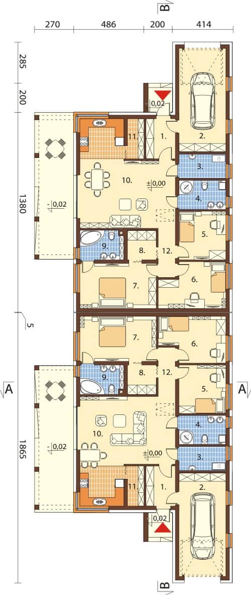 Projekt domu L-6526 - rzut