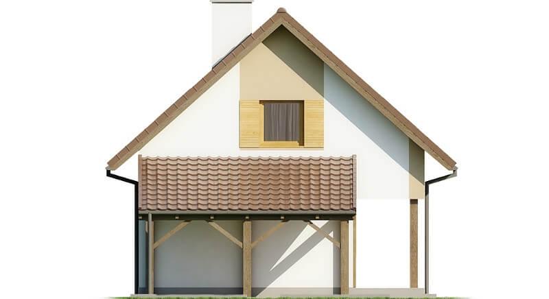 Projekt domu L-6609 - elewacja