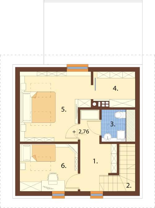 Projekt domu L-6609 - rzut