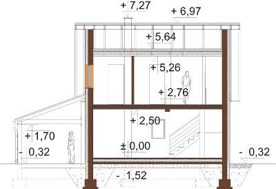 Projekt domu L-6609 - przekrój