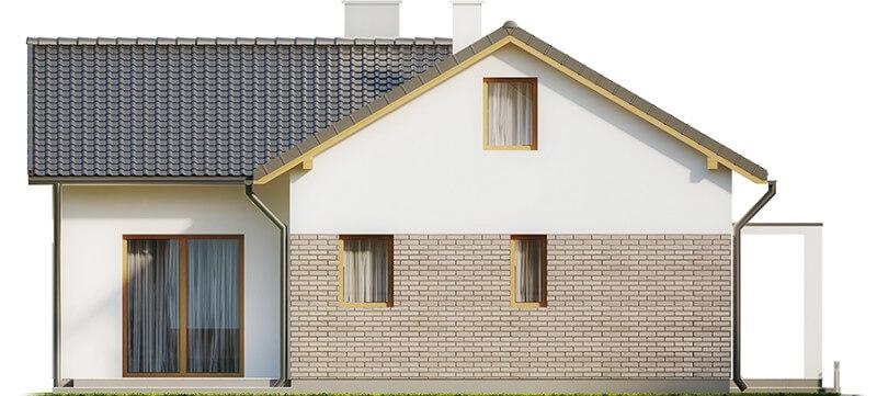 Projekt domu L-6619 - elewacja