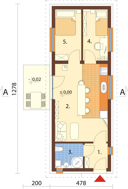 Projekt domu L-6633 - rzut
