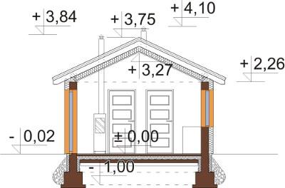 Projekt domu L-6633 - przekrój