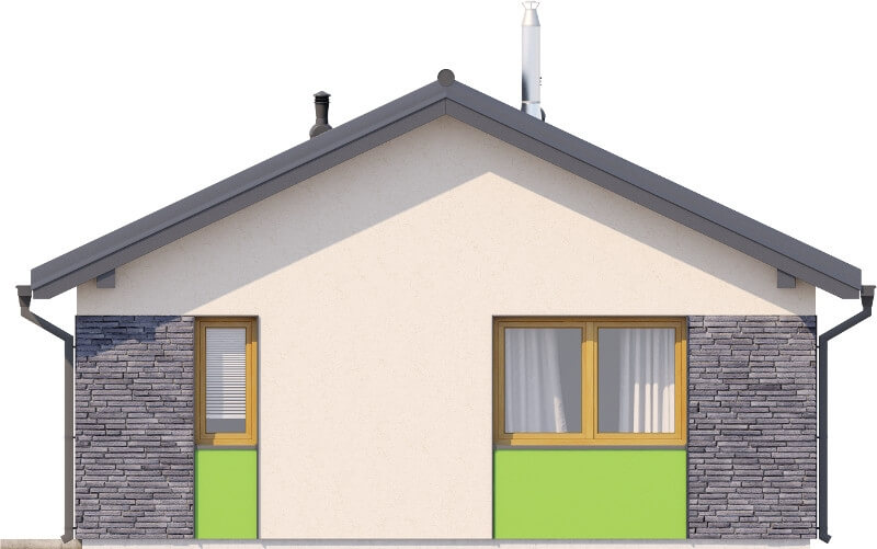 Projekt domu L-6632 - elewacja