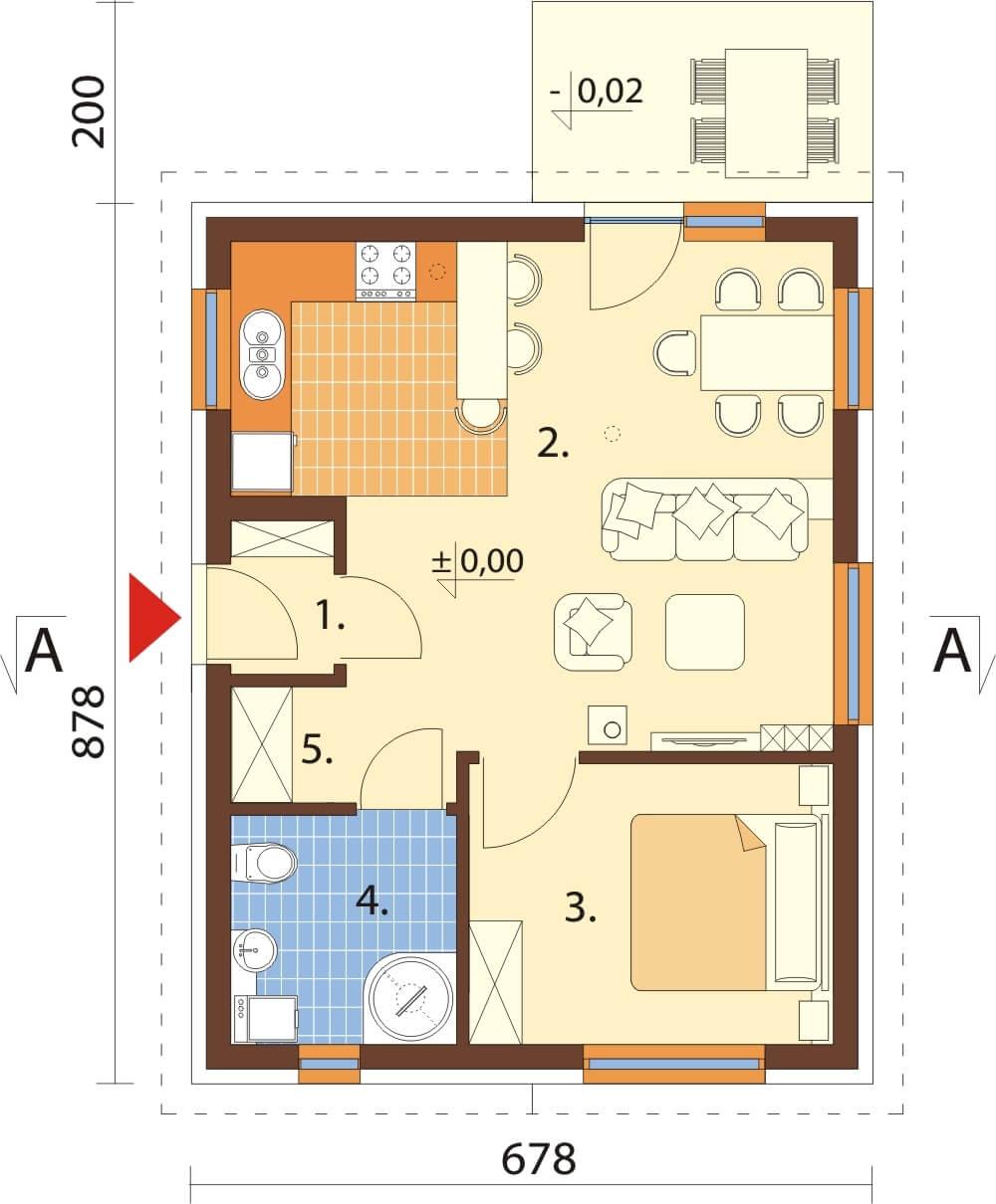 Projekt domu L-6632 - rzut