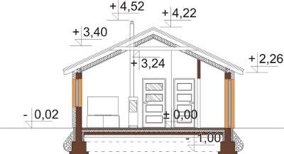 Projekt domu L-6632 - przekrój