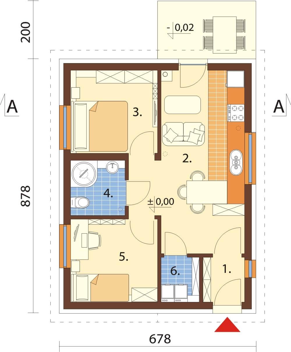 Projekt domu L-6634 - rzut