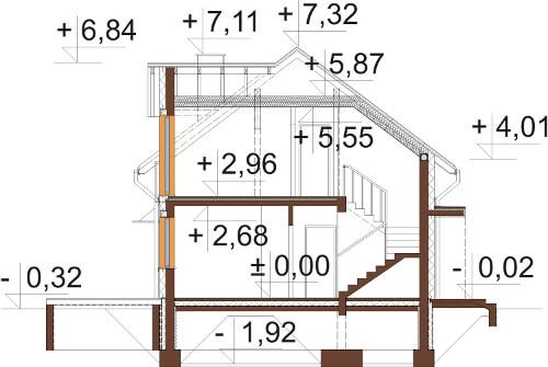Projekt domu DM-6529 - przekrój