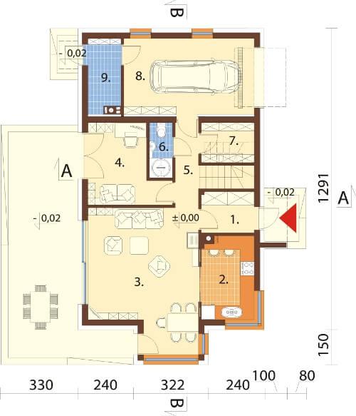 Projekt domu DM-6529 - rzut