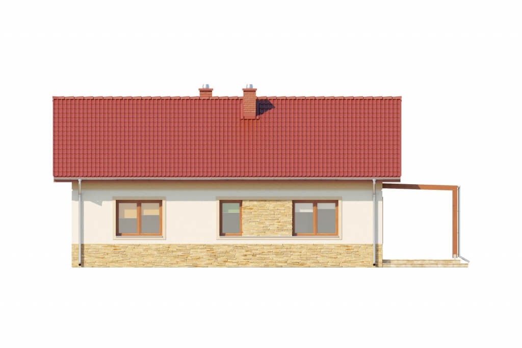 Projekt domu DM-6637 - elewacja