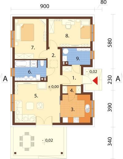 Projekt domu DM-6637 - rzut
