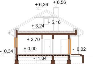 Projekt domu DM-6637 - przekrój