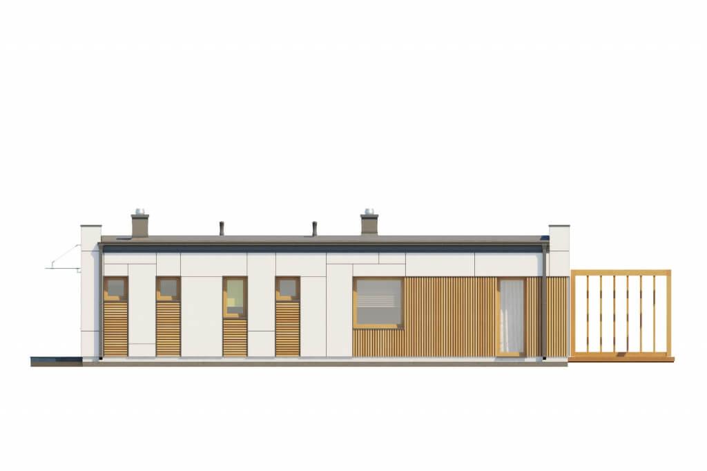 Projekt domu DM-6636 - elewacja