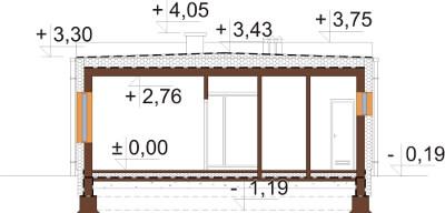 Projekt domu DM-6636 - przekrój
