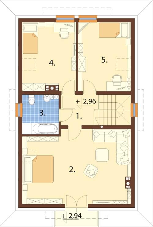 Projekt domu DM-6624 - rzut