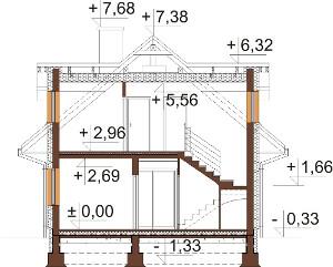 Projekt domu DM-6624 - przekrój