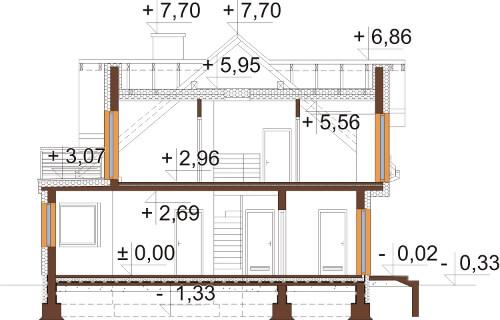 Projekt domu DM-6618 - przekrój
