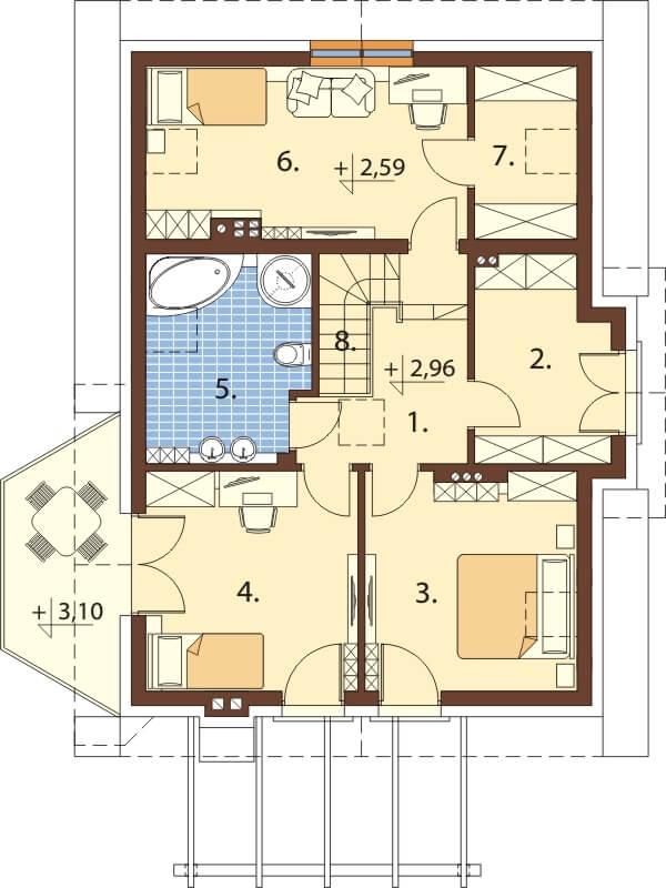 Projekt domu DM-6618 - rzut