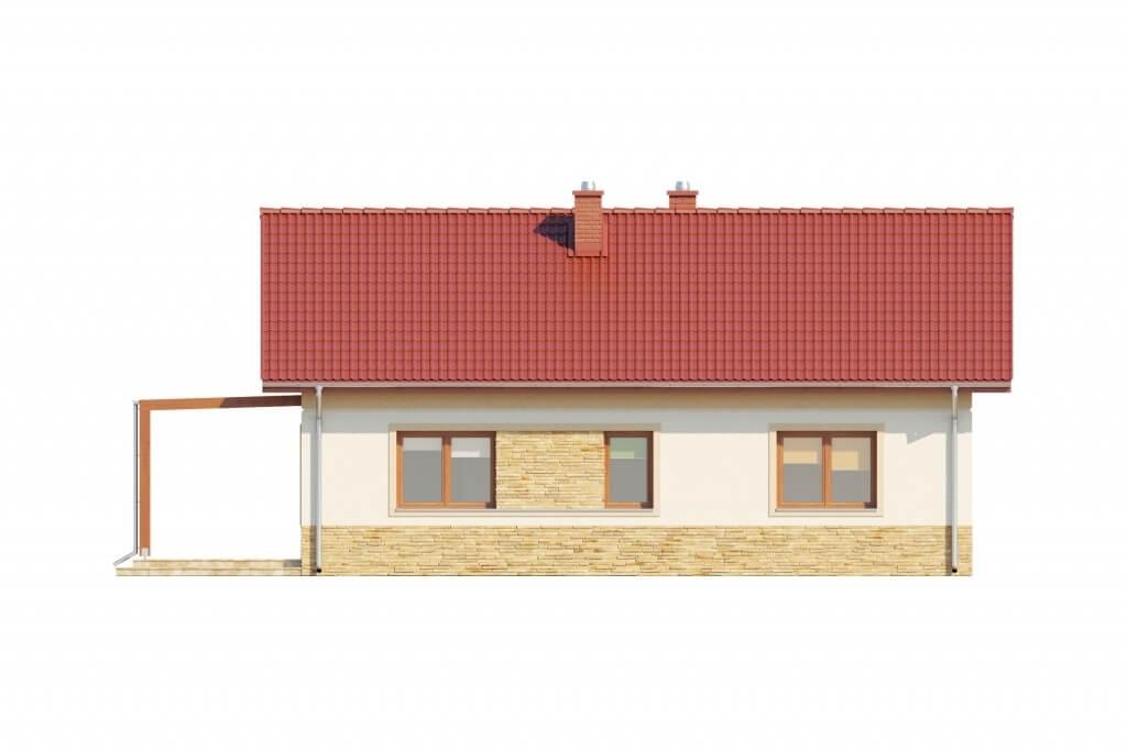 Projekt domu L-6637 - elewacja