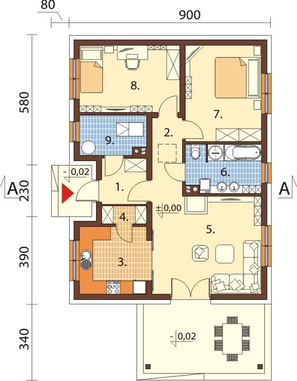 Projekt domu L-6637 - rzut
