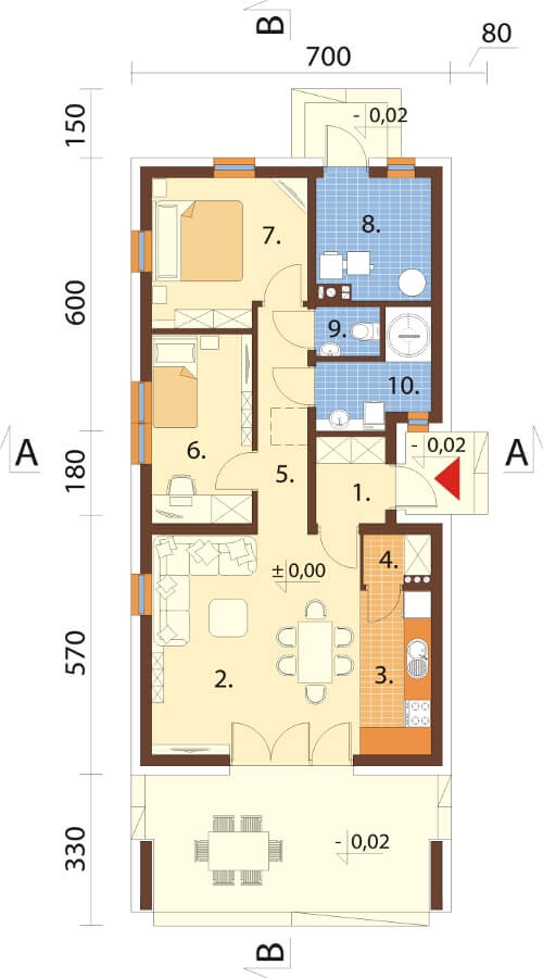 Projekt domu DM-6622 - rzut