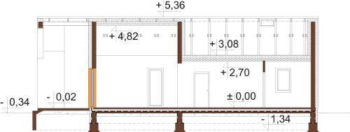 Projekt domu DM-6622 - przekrój
