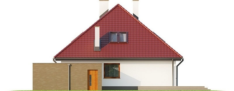 Projekt domu L-6540 - elewacja