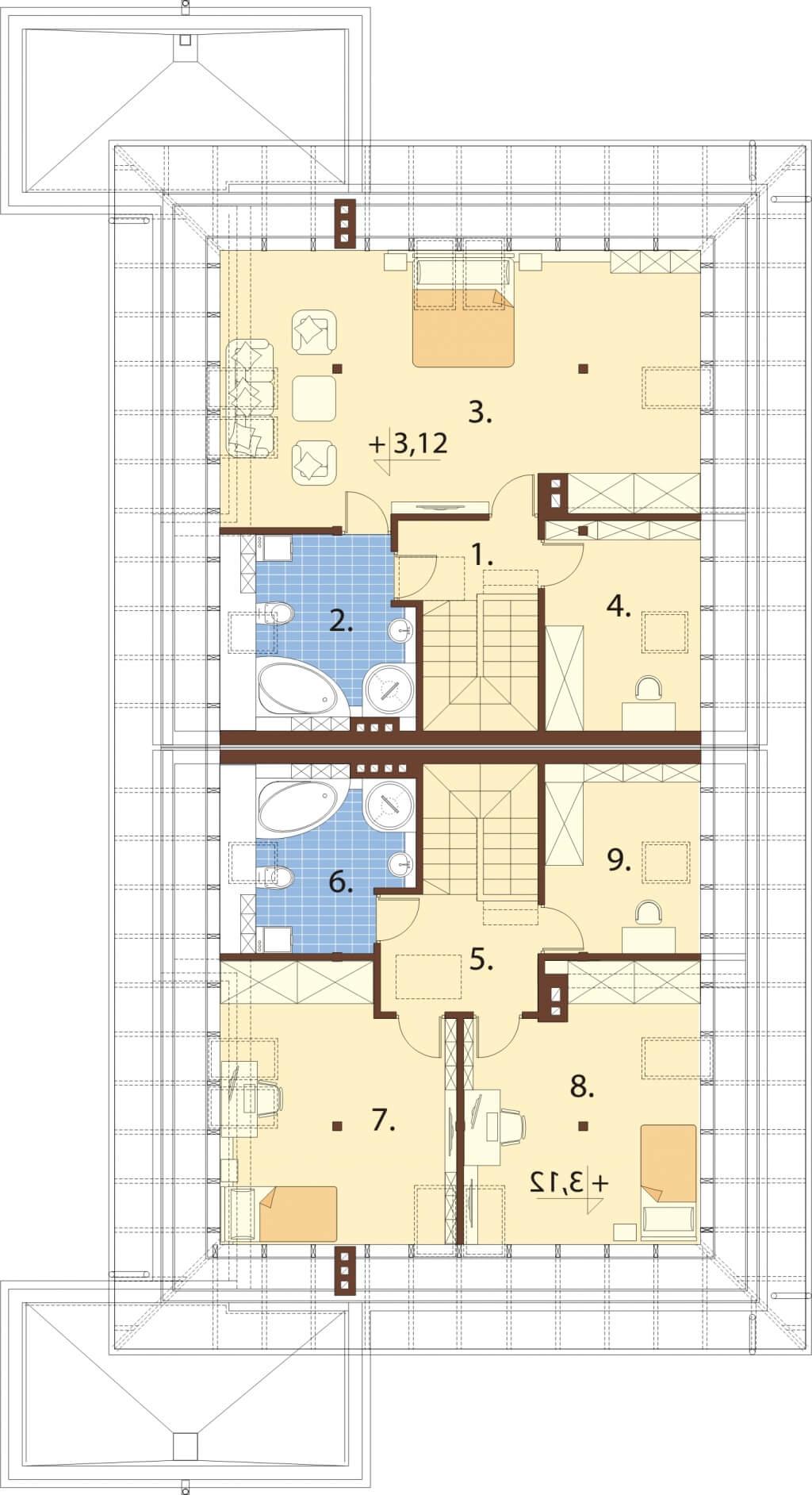 Projekt domu L-6540 - rzut