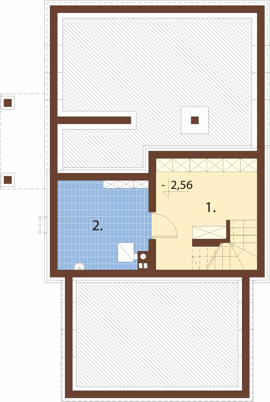 Projekt domu L-6527 - rzut