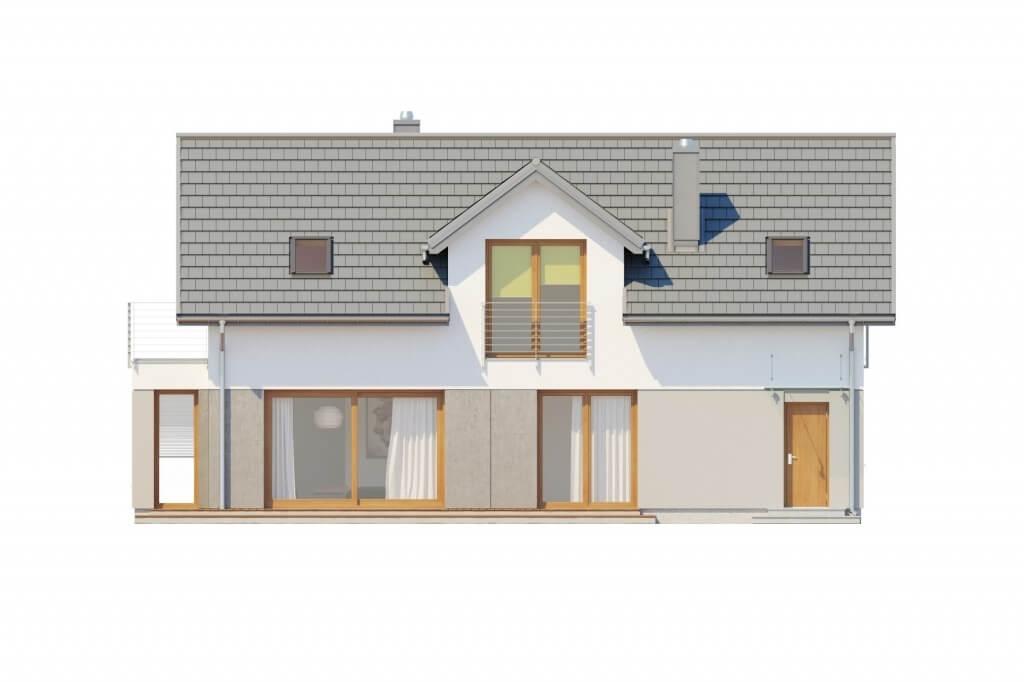 Projekt domu L-6529 - elewacja