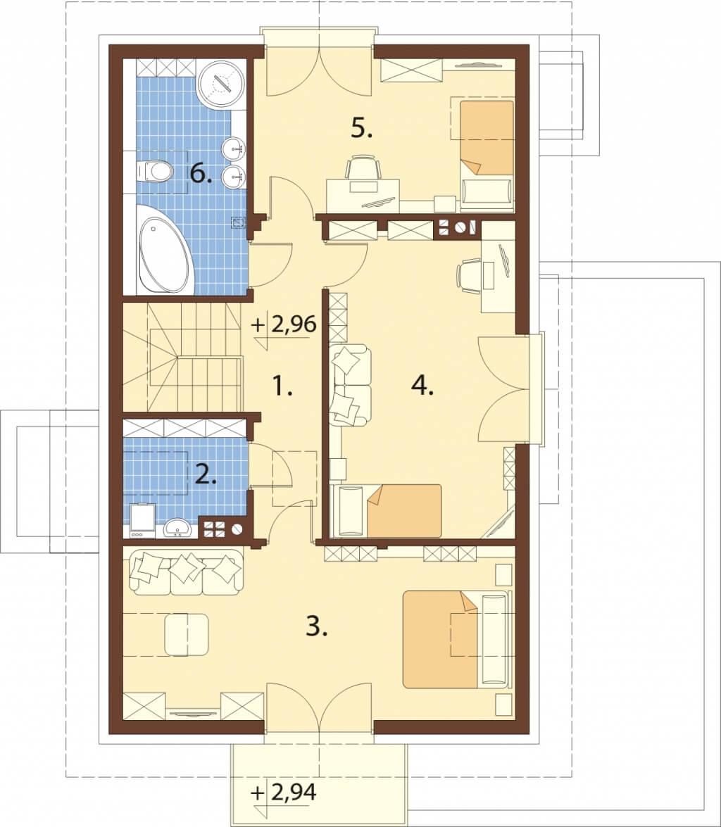Projekt domu L-6529 - rzut