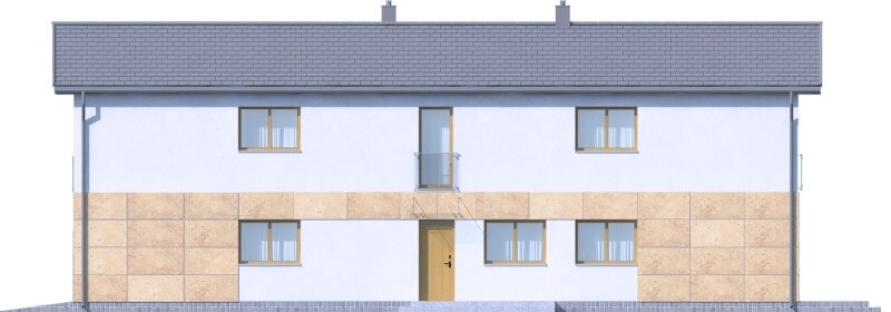 Projekt domu L-6597 - elewacja