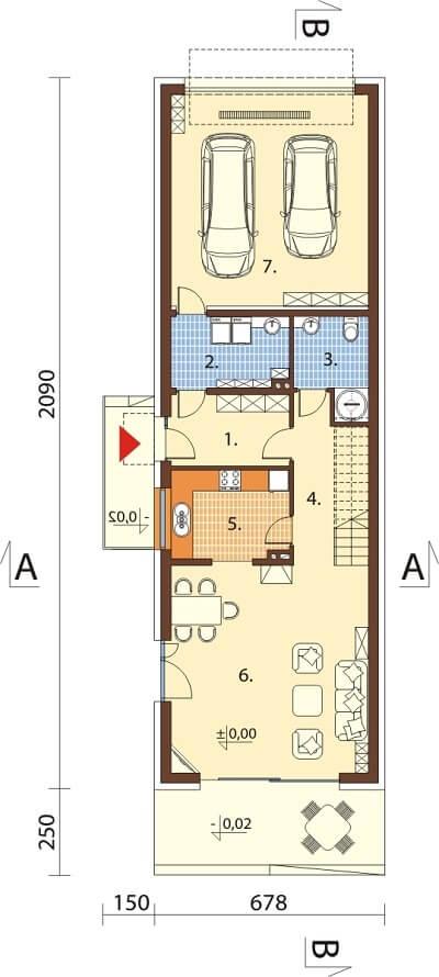 Projekt domu L-6597 - rzut