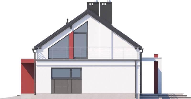 Projekt domu L-6620 - elewacja