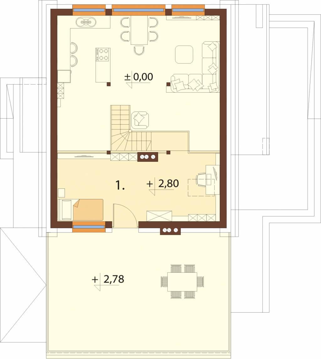Projekt domu L-6620 - rzut