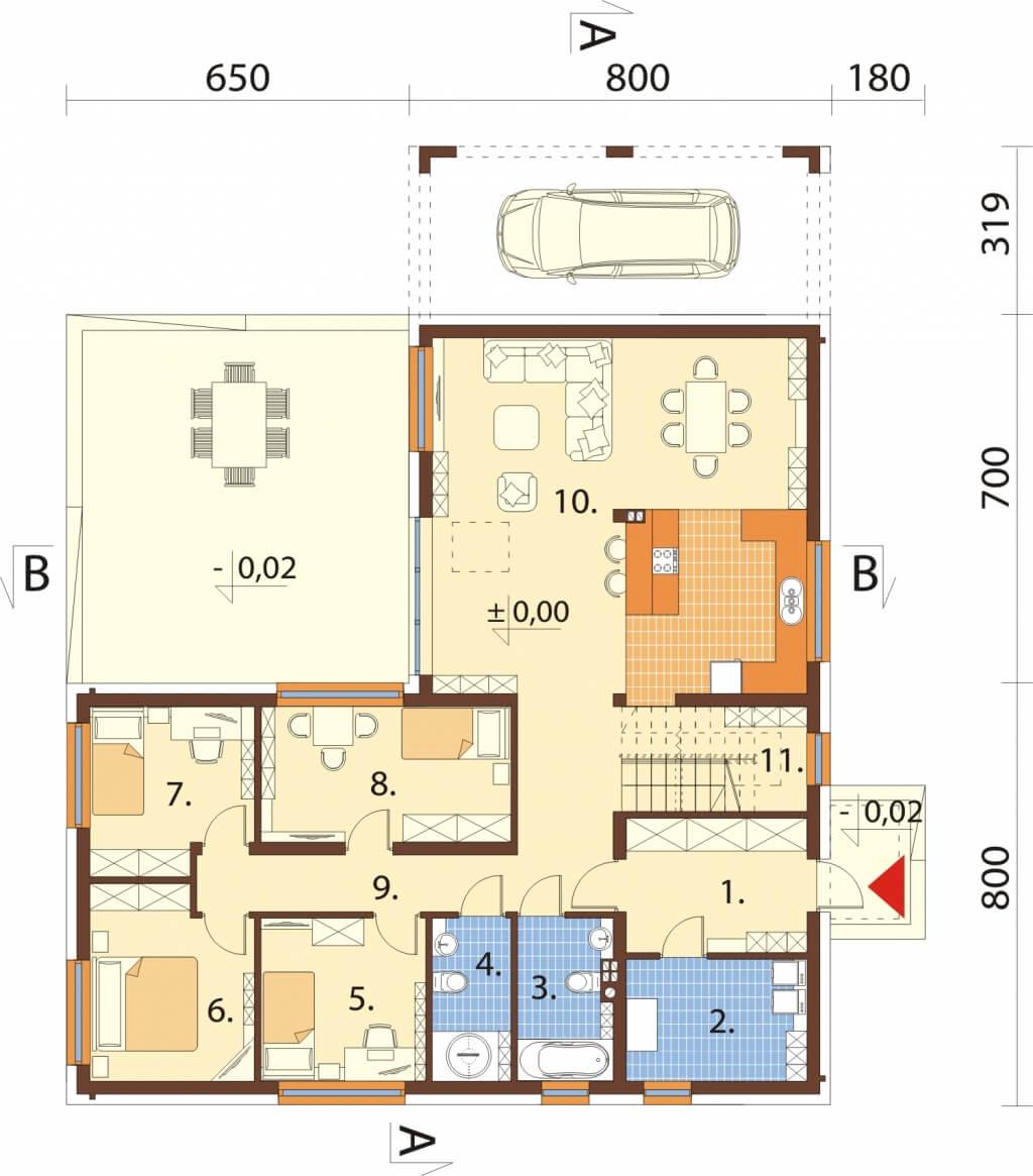 Projekt domu DM-6528 - rzut