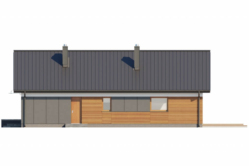 Projekt domu L-6596 B - elewacja