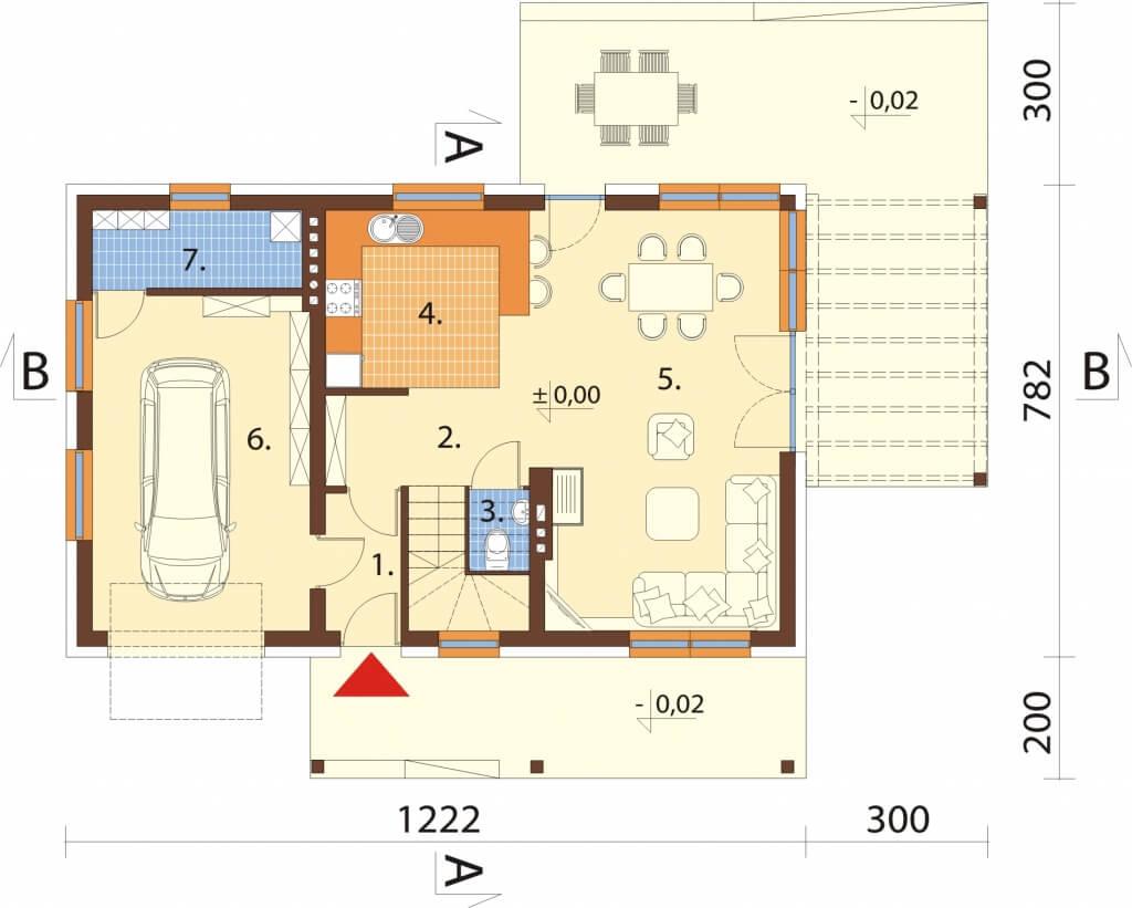 Projekt domu DM-6631 - rzut