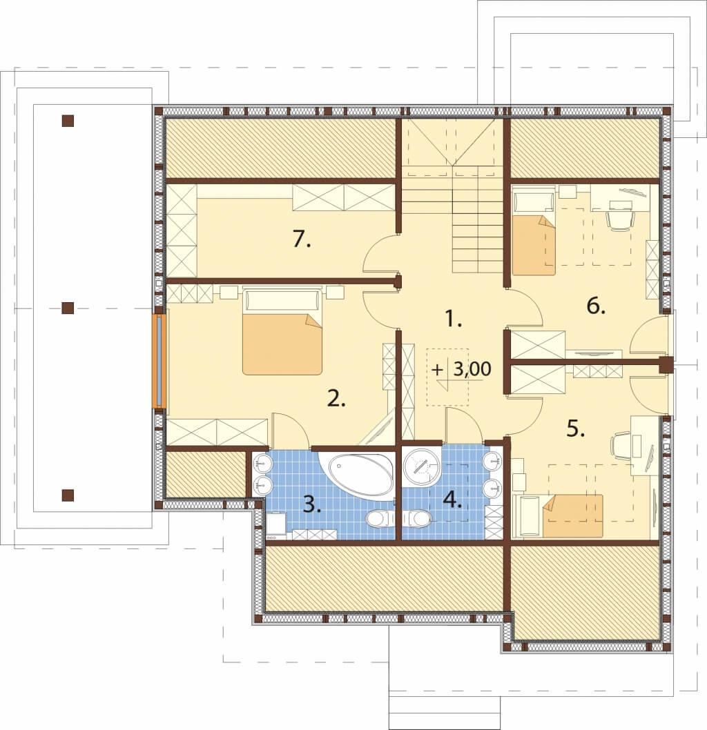 Projekt domu DM-6629 - rzut