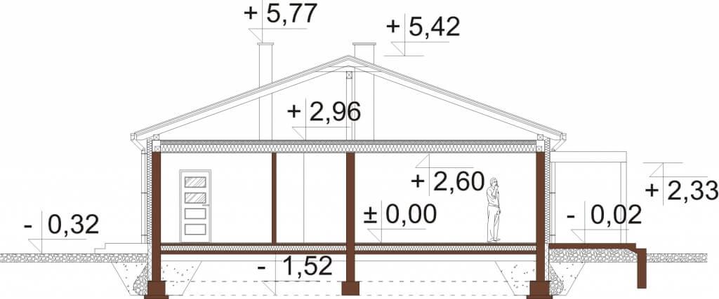 Projekt domu DM-6639 - przekrój